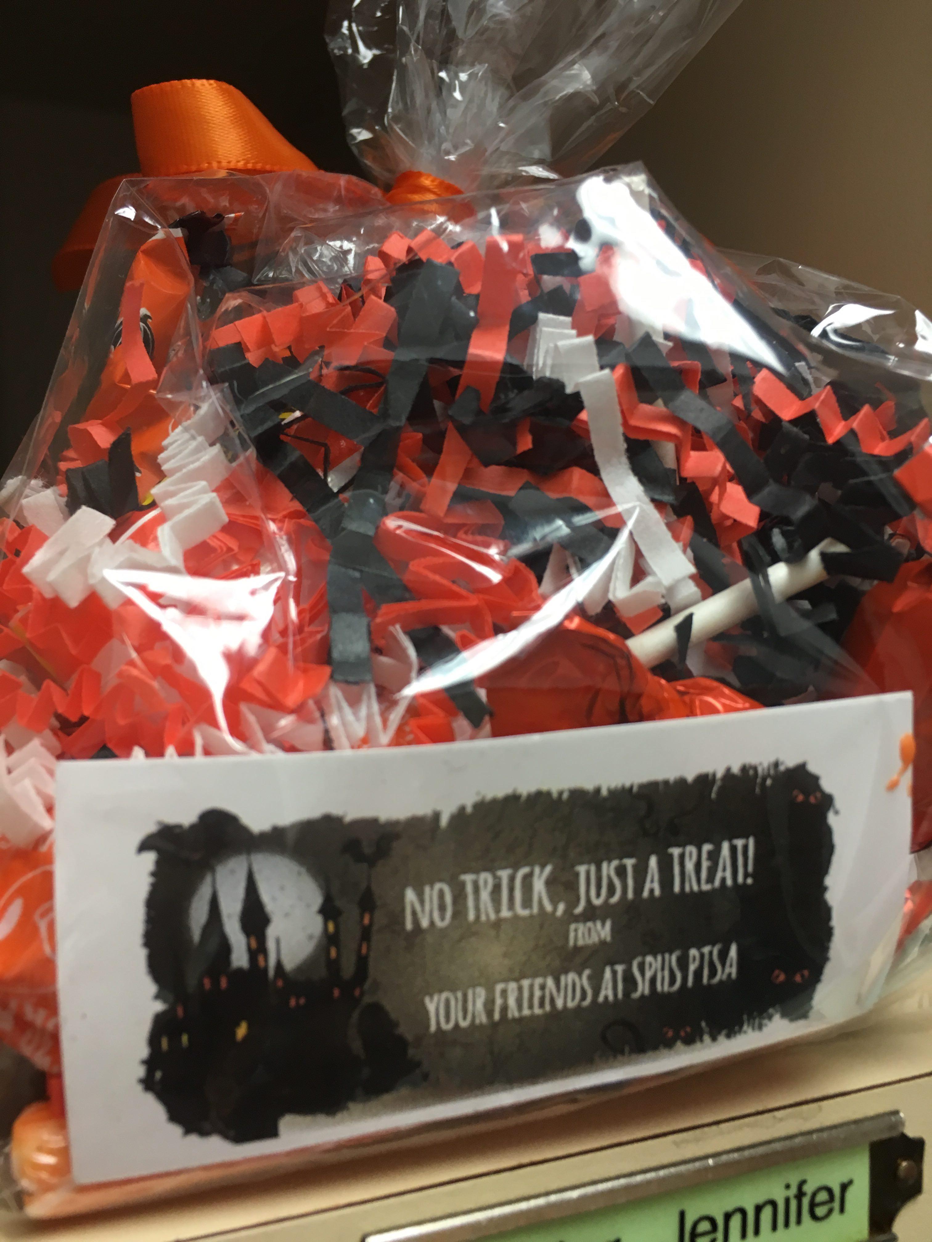 sphs ptsa teacher appreciation halloween goodie bags | south